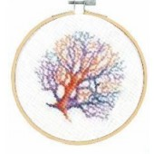 DMC Living Coral Cross Stitch Kit - BK1871