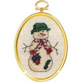 Janlynn 021-1796 -  Country Snowman Cross Stitch Kit