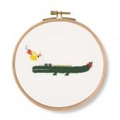 DMC Invitation! Crocodile Printed Embroidery Kit - TB128