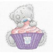 DMC BL1139/72 - Me to You Tatty Teddy Cupcake Printed Cross Stitch Kit