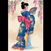 Dimensions Gold Petites Elegant Geisha  - D6953 Cross Stitch Kit