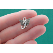 Elephant Silver Tone Charms - 4 Pack