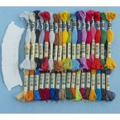 35 NEW DMC ETOILE  colours plus 35 FREE cardboard bobbins