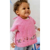 Rico Baby Armhole Feeder Bib - Pink (40 x 49cm)