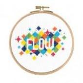 "BK1730 - Mindful Moments by Mr X Stitch ""Flow"" Cross Stitch Kit"