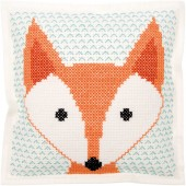 Rico Fox Felt Cushion Cross Stitch Kit