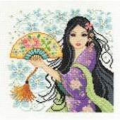 DMC Cross Stitch Kit BK1564 - Geisha
