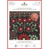 BK1784 - Red Geo Flowers Half Cross Stitch Kit