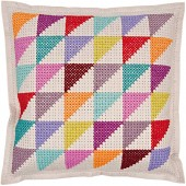 Rico Geometric Felt Cushion Cross Stitch Kit