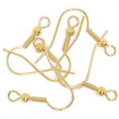 Gold Long Ball Earring Hooks