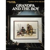 Leisure Arts Grandpa and the Boy Cross Stitch Chart Leaflet