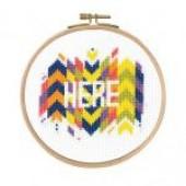 "BK1728 - Mindful Moments by Mr X Stitch ""Here"" Cross Stitch Kit"