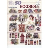 American School of Needlework - 50 Houses Cross Stitch Chart Booklet
