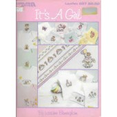 Leisure Arts Its A Girl Cross Stitch Chart Leaflet