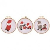 BL111611 - Tomte Kettle Sleigh Tree Cross Stitch Kit