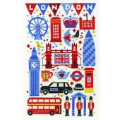 BK1649 - Vintage Chic Collection London Attractions Cross Stitch Kit