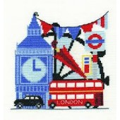 BK1651 - Vintage Chic Collection London Sight-Seeing Cross Stitch Kit