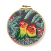 DMC Love Birds Printed  Cross Stitch Kit - BK1791