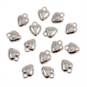 Heart Silver Tone Charms - 3 Pack