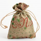Christmas Noel Hessian Bags 3 pack