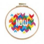 """BK1729 - Mindful Moments by Mr X Stitch """"Now"""" Cross Stitch Kit"""
