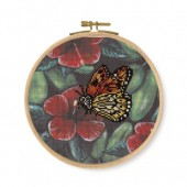 DMC Orange Butterfly Printed Cross Stitch Kit - BK1789