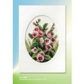 Orchidea Card kit - Hollyhocks