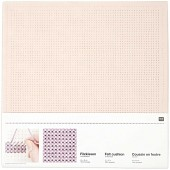 Rico Punched Felt Cushion To Cross Stitch - Pale Pink