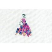 DMC Party Pink Cross Stitch Kit - BK1794