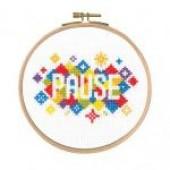 """BK1731 - Mindful Moments by Mr X Stitch """"Pause"""" Cross Stitch Kit"""