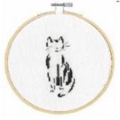 BK1881 - Pensive Cat Cross Stitch Kit