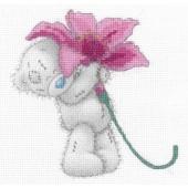 BL1142/72 - Me to You Tatty Teddy Pink Lily Printed Cross Stitch Kit