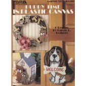 Leisure Arts Puppy Time In Plastic Canvas Cross Stitch Chart Leaflet