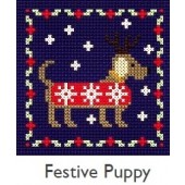 DMC Festive Puppy Cross Stitch Kit