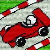 C058K - Racing Car Gobelin Printed Tapestry Starter Kit
