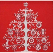 BKJPBK557R - Red Christmas Tree Cross Stitch Kit