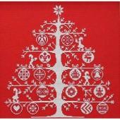 BKJPBK557R - Red Christmas Tree Cross Stitch Kit