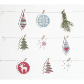 Stitchable Christmas Decorations White