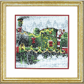 Dimensions Santa Express Cross Stitch Kit