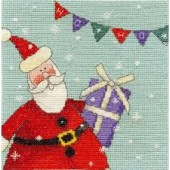 BK1364 - Santa With Bunting Cross Stitch Kit