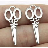 Scissors Silver Tone Charms - 3 Pack