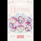 Tilda Plum Garden Buttons - 400025