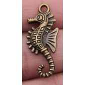 Sea Horse Bronze Tone Charms 3 Pack