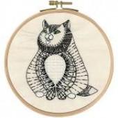 TB105 DMC Printed Embroidery Kit - Sebastian Sitting