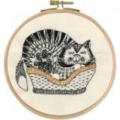 TB106 DMC Printed Embroidery Kit - Sebastian Sleeping