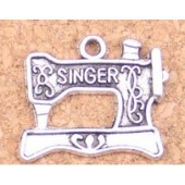 Singer Sewing Machine Silver Tone Charms 3 Pack
