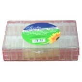 BD836 - Clear Flip Top Lid Storage Boxes