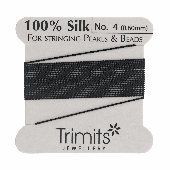 Silk Beading thread - Size 4 - Black