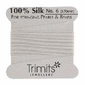 Silk Beading thread - Size 6 - White