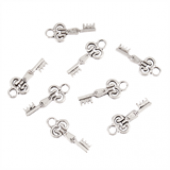 Key B Silver Tone Charms - 3 Pack